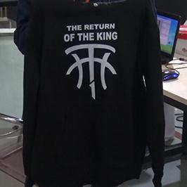 A2 TシャツプリンターWER-D4880Tによる黒いセーター印刷サンプル