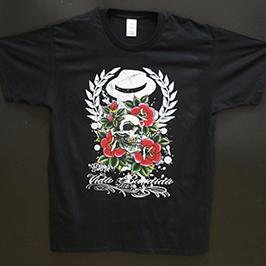 A1デジタル捺染プリンタWER-EP6090Tによる黒色のTシャツ印刷サンプル