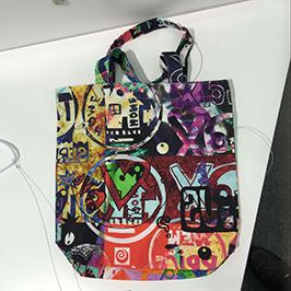 A1デジタル捺染プリンタWER-EP6090Tによる不織布バッグの印刷サンプル